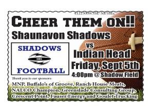 35-1 Shadows Football ad