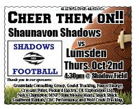 39-1 Shadows Football ad