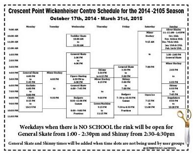 40-1 Rink Schedule