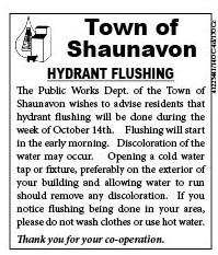 41-1 Town of Shaunavon Hydrant Flushing